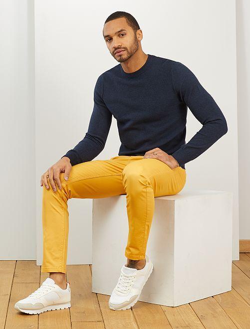 Pullover leggero gioco di maglie                                         BLU