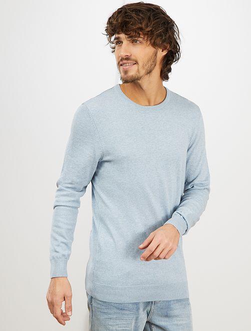 Pullover leggero girocollo                                                                                                                                                                             BLU