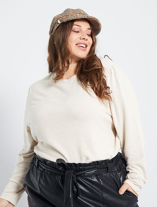 Pullover leggero in maglia morbida                             BEIGE