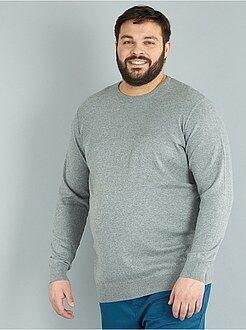 Taglie forti Uomo - Pullover leggero maglina - Kiabi