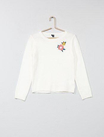 Pullover leggero ricamato - Kiabi