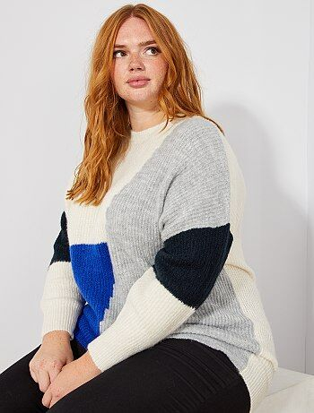 Pullover loose color block - Kiabi