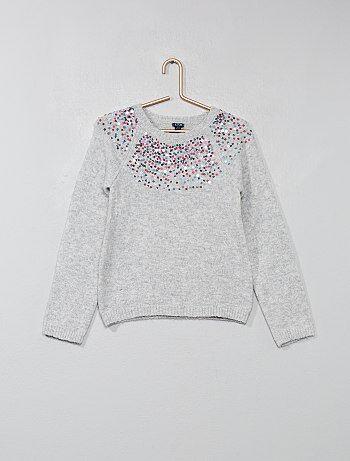 Bambina 3-12 anni - Pullover lustrini - Kiabi