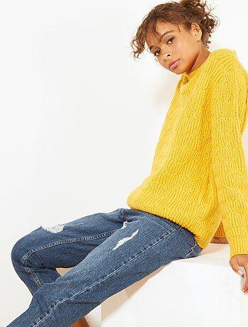 Pullover maglia a trecce - Kiabi