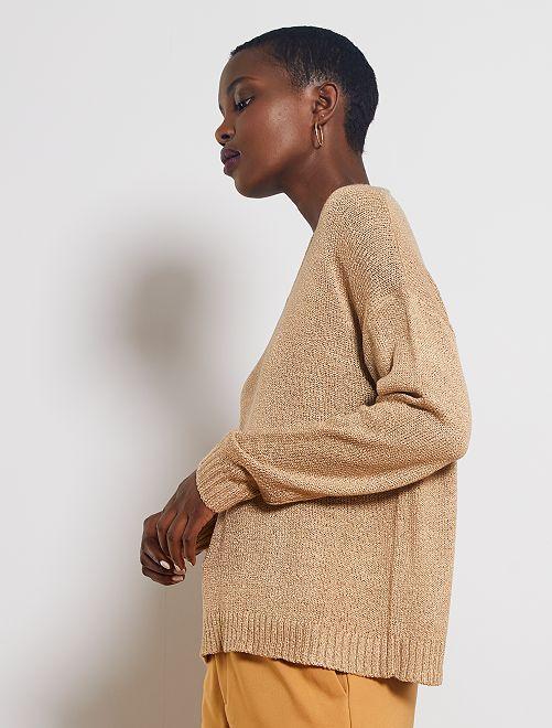 Pullover maglia bouclé                                                                             BEIGE