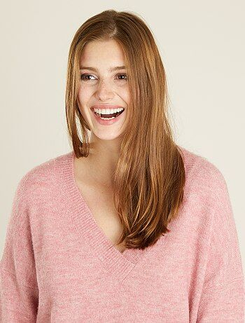 Pullover maglia collo a V - Kiabi