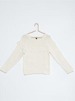Pullover maglia con frange stile etnico