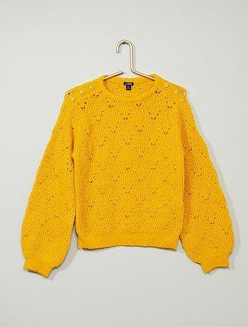 Pullover maglia fantasia - Kiabi