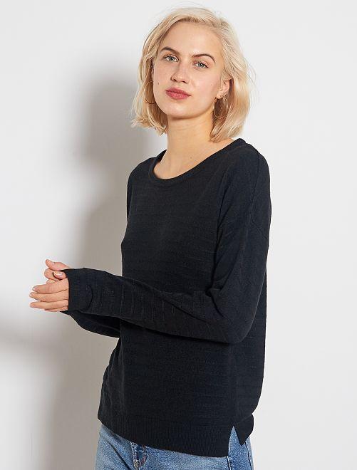 Pullover maglia fantasia 'JDY'                             nero