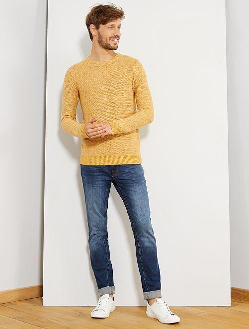 Pullover maglia mouliné 'eco-design'                                                     GIALLO