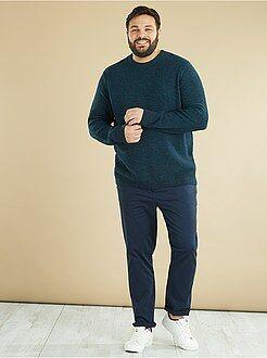 Taglie forti Uomo - Pullover maglia mouliné - Kiabi