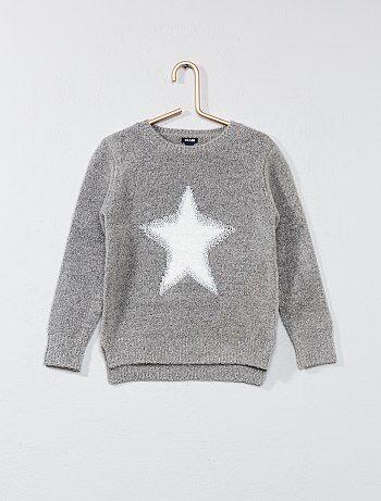 Pullover maglia pelosa 'stella' - Kiabi