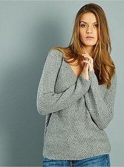 Maglioni collo a v - Pullover maglia perlata - Kiabi