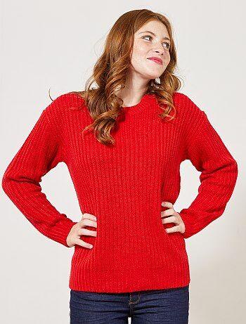 Pullover maglia perlata - Kiabi