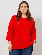 Pullover maglia perlata