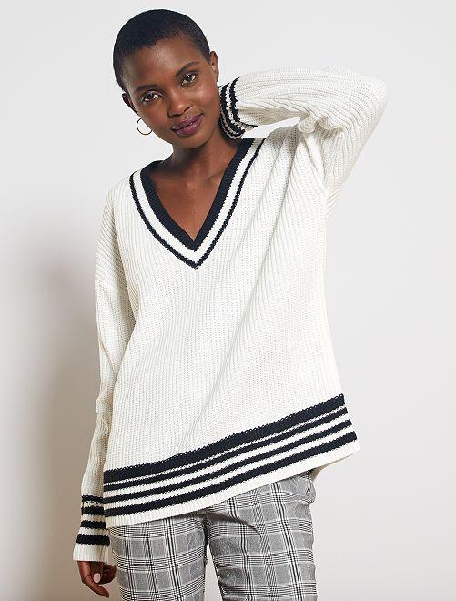 Pullover maglia pesante                                                                 bianco neve