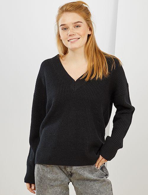 Pullover maglia pesante                                                                 nero