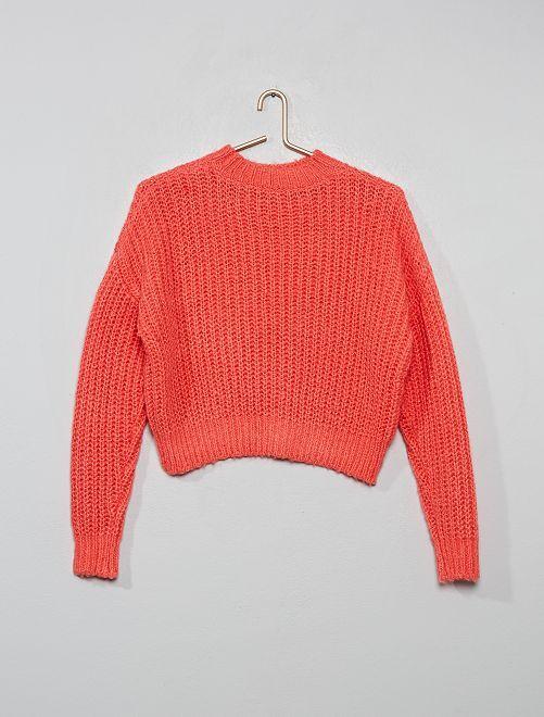 Pullover maglia pesante                             rosa