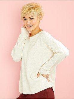Maglioni collo arrotondato - Pullover maglia soffice annodato dietro