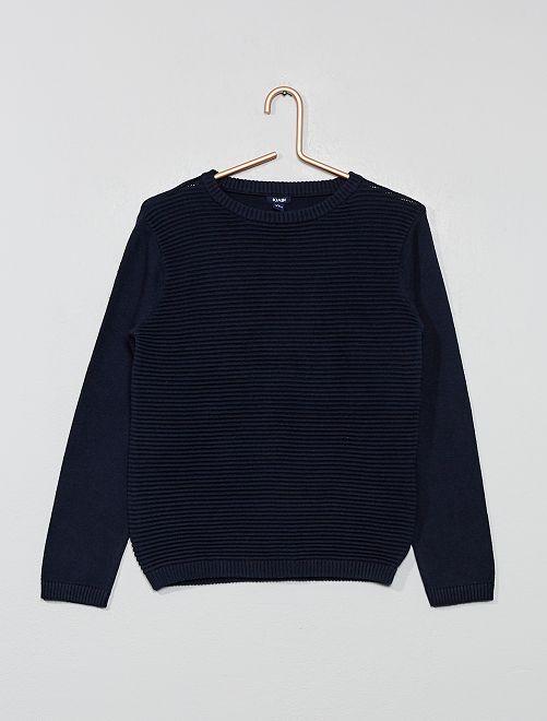 Pullover maglia striata                                         blu