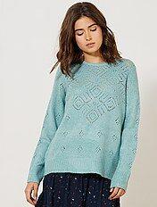 Pullover maglia traforata