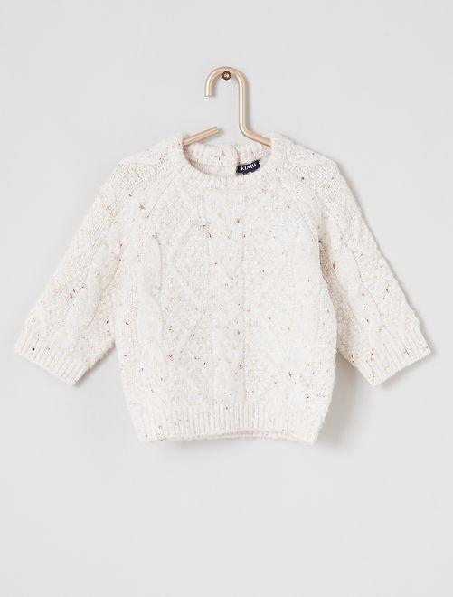 Pullover maglia tricot                     BIANCO