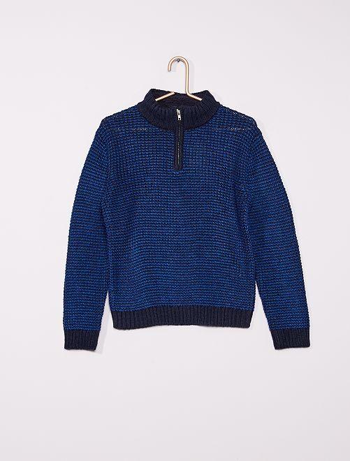 Pullover maglia tricot                             BLU