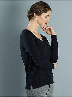 Maglioni - Pullover maglina collo a V
