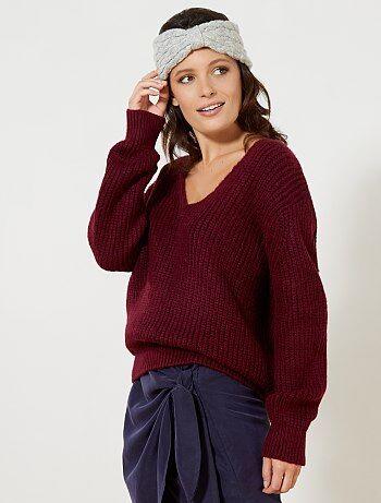 Pullover oversize maglia grossa - Kiabi