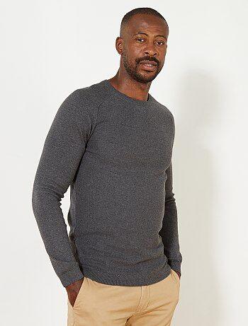 Pullover raglan cotone + 1 m 90 - Kiabi