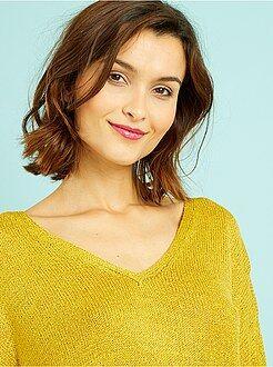 Donna dalla 38 alla 52 Pullover sottile taglio loose