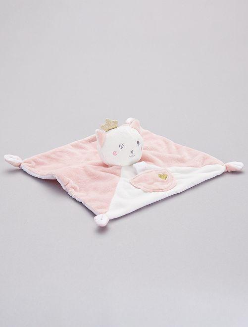 Pupazzetto fazzoletto 'gatto'                             ROSA