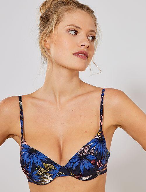 Reggiseno bikini con ferretto                             BLU Donna