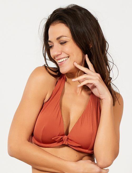 Reggiseno bikini coppa D & E                     ARANCIONE Donna