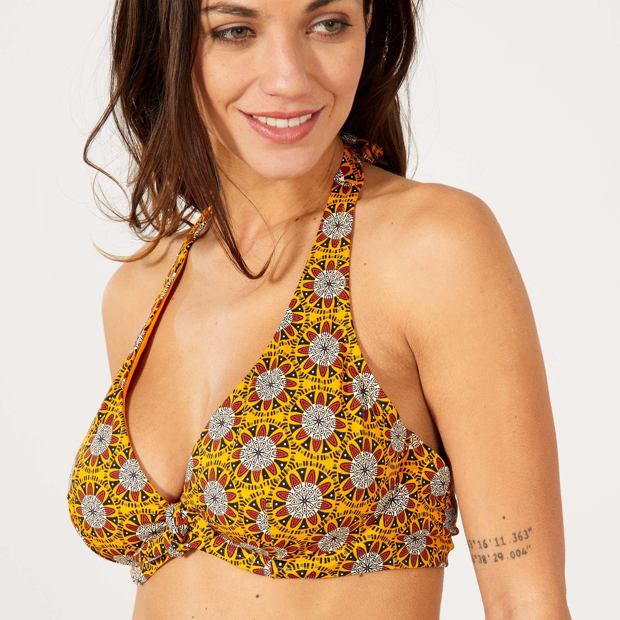 Reggiseno bikini coppa D & E Donna - ARANCIONE - Kiabi ...