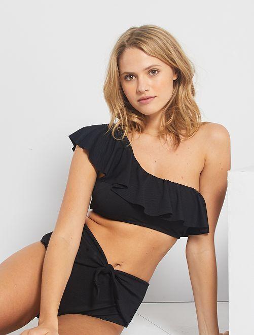 Reggiseno bikini monospalla                                         nero