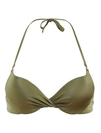 Reggiseno bikini push up attorcigliato - Kiabi