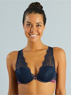 Reggiseno foulard push up pizzo e tulle