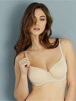 Coppe d-e - Reggiseno push up microfibra coppa D & E