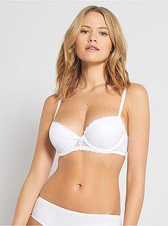 Reggiseno push up pizzo e microfibra