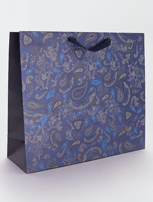 Sacchetto regalo in carta riciclata                             BLU