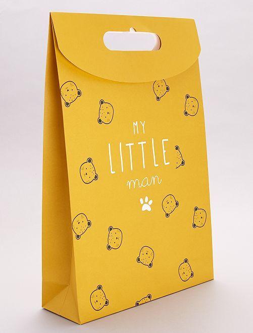 Sacchetto regalo in carta riciclata                                                     orso
