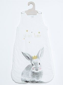 Bambina 0-36 mesi Sacco nanna jersey stampa 'coniglio'