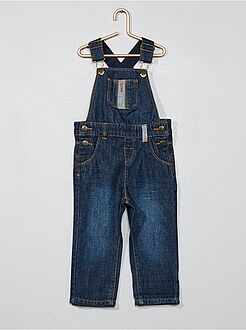 Pantaloni, jeans, leggings - Salopette denim grezzo
