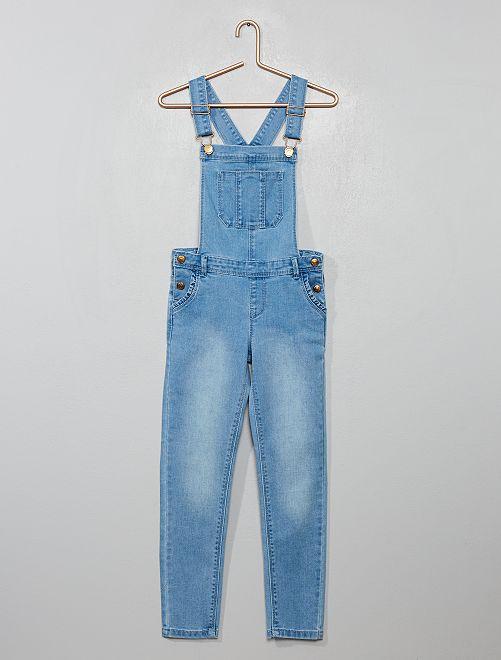 Salopette lunga in jeans                             BLU