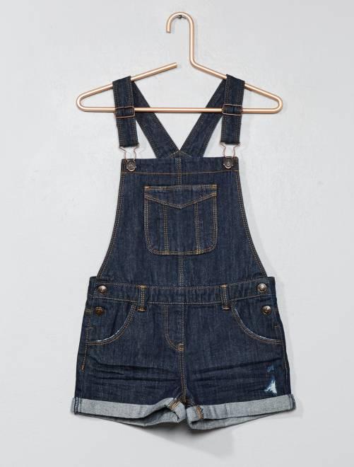 Salopette pantaloncini denim                                                                 BLU Infanzia bambina