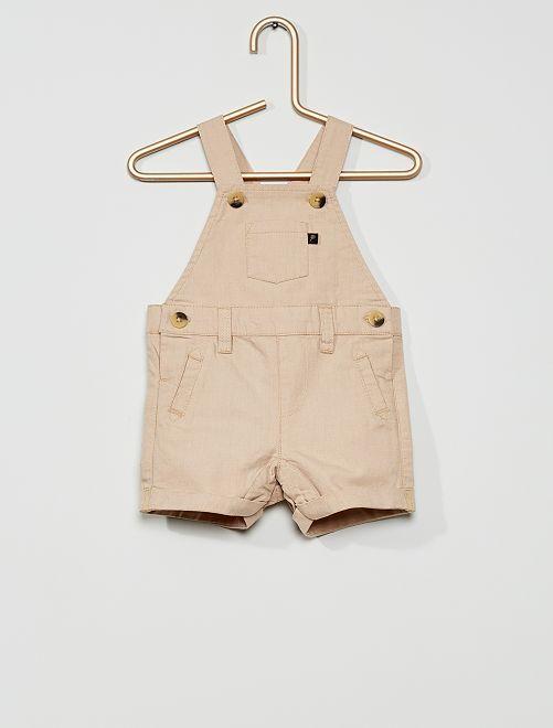 Salopette-shorts                     BEIGE