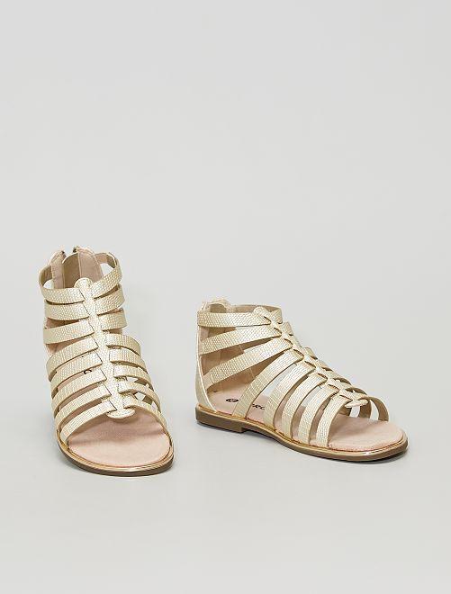 Sandali alla schiava dorati                             d'oro