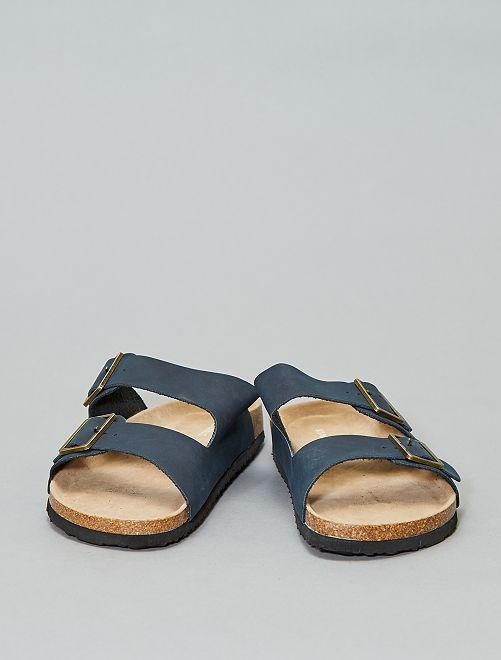 Sandali anatomici con cinturino                             blu navy Uomo