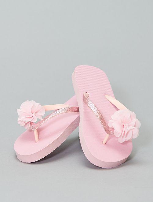 Sandali anatomici stampa fiori                             rosa Scarpe